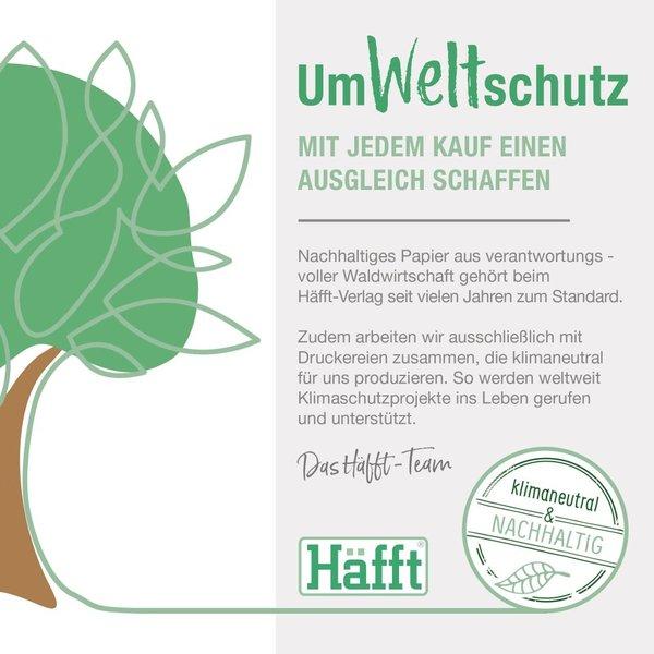 Häfft Verlag Häfft Trendstuff Notizbuch Classic kariert A5+ Smaragd Gold
