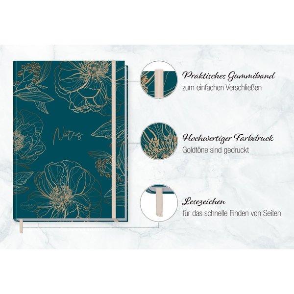 Häfft Verlag Häfft Trendstuff Notizbuch Classic blanko A5+ Goldblüte