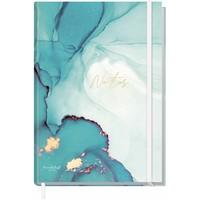 Häfft Verlag Häfft Trendstuff Notizbuch Classic blanko A5+ Smaragd Gold