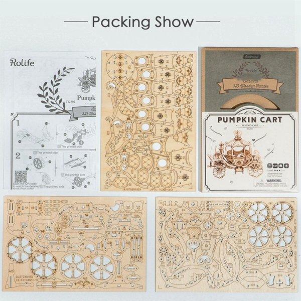 "Rolife Rolife 3D-Holz-Puzzle ""Pumpkin Cart"""