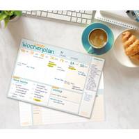 Häfft Verlag Häfft Family Tischblock A4 Wochenplan, 4-spaltig, 50 Wochen