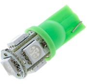 T10 5 x 5050 SMD LED Green 12V Autolamp