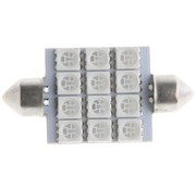 Festoon 12 x 5050 SMD LED Green 41 MM 12V Interieur Autolamp