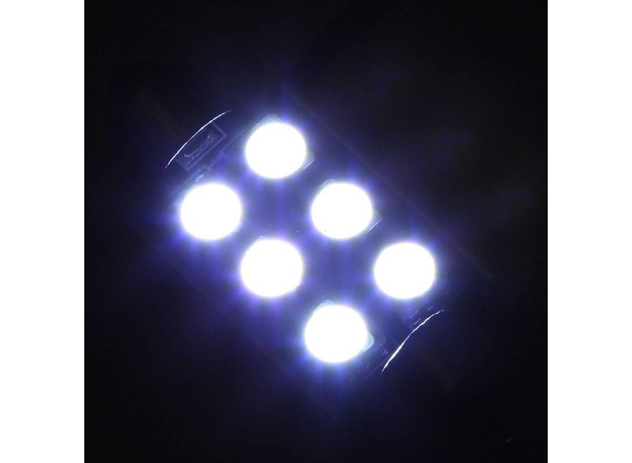 Festoon 6 x 5050 SMD LED Canbus White 39 MM 12V Autolamp
