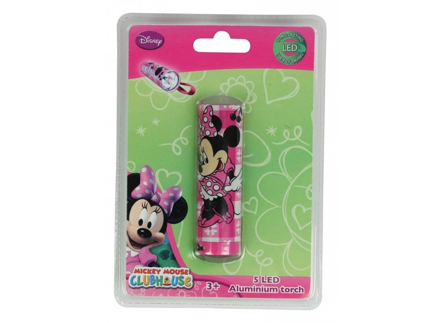 Disney Minnie Mouse 5 LED's Aluminium Zaklamp