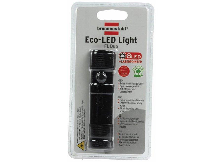 Brennenstuhl Soft Touch ECO LED Zaklamp met Laserpointer + 3x AAA Batterijen