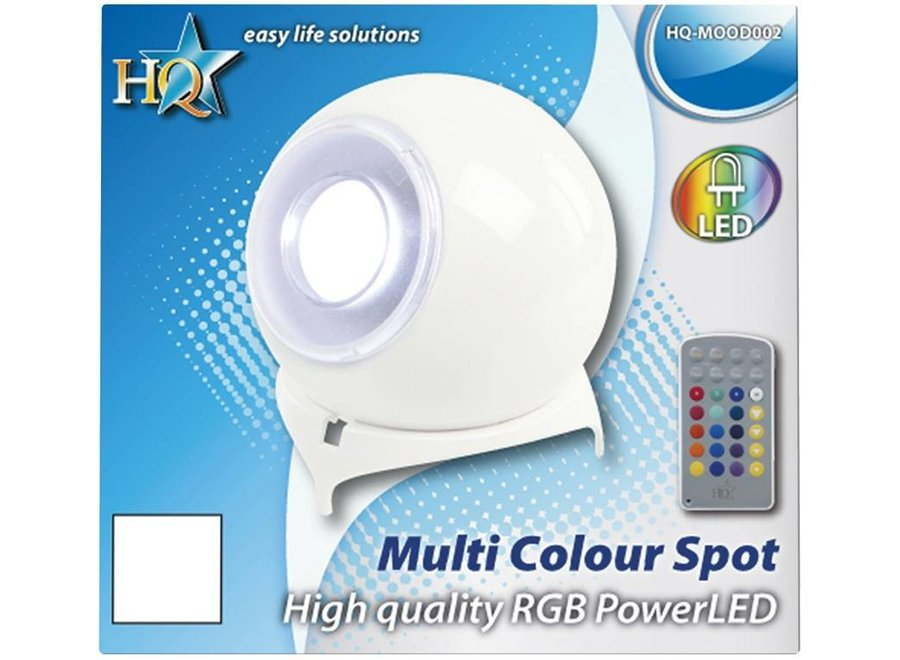 HQ Multicolour PowerLED Vloerspot met Afstandsbediening