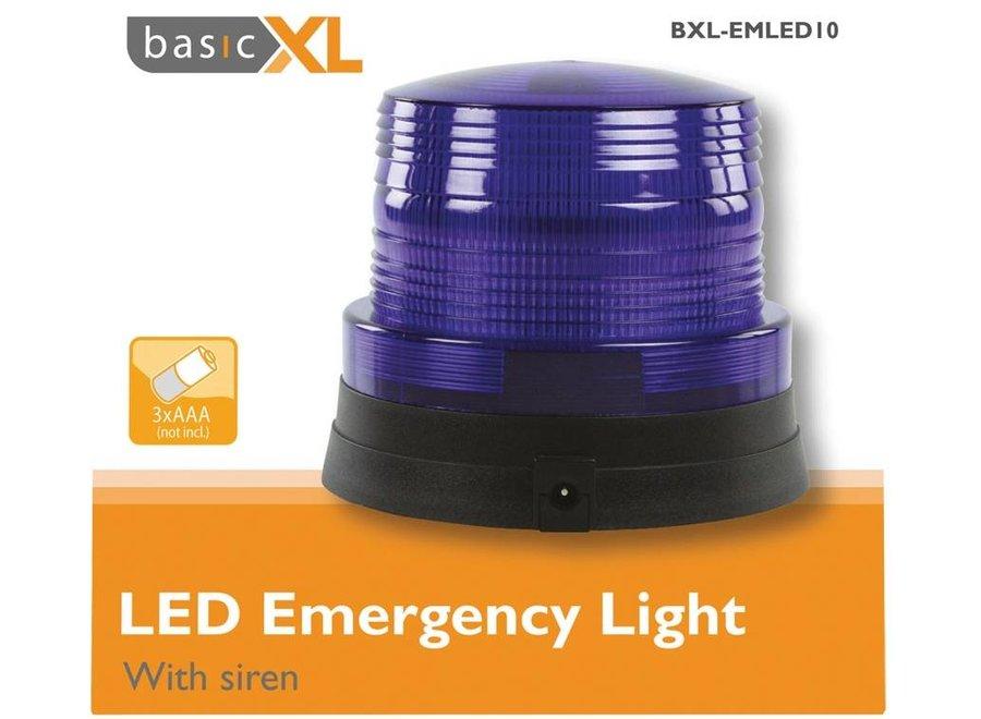 BasicXL Blue LED Zwaailicht met Politie Sirene