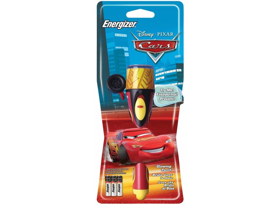 Energizer Disney Cars Red Glimmende LED Zaklamp