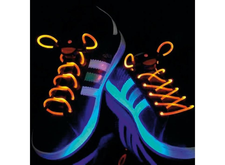 BasicXL Orange LED Lichtgevende Schoenveters