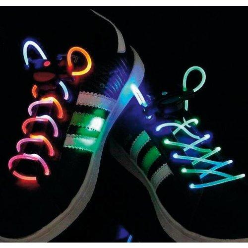BasicXL BasicXL Green/Purple LED Lichtgevende Schoenveters