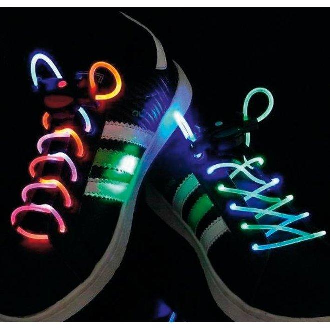 BasicXL Green/Purple LED Lichtgevende Schoenveters