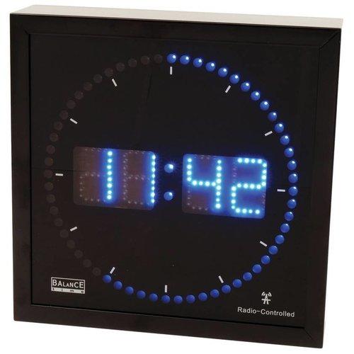 Balance Time Balance Time Blue LED Wandklok Aluminium