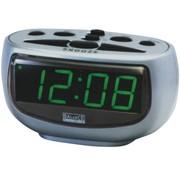 Balance Time Balance Time Green LED Display Wekker Silver