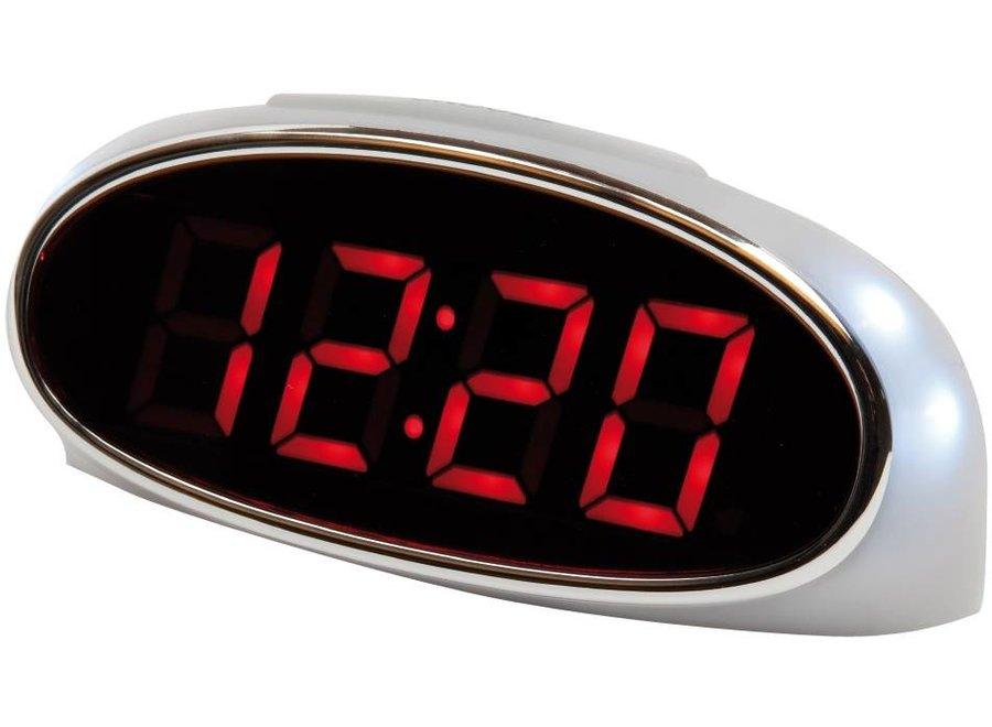 Balance Time Red LED Wekker White