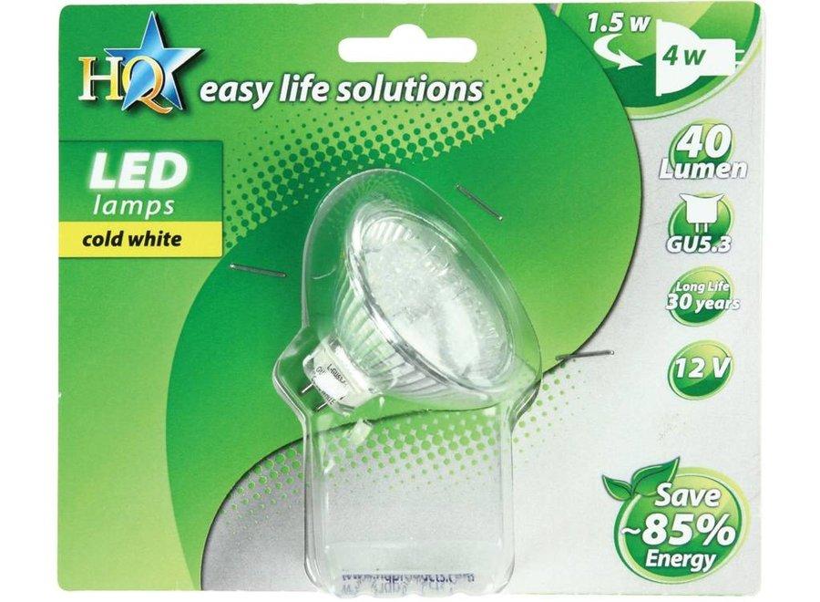 HQ GU5.3 Cool White LED'S MR16 3x 1 W