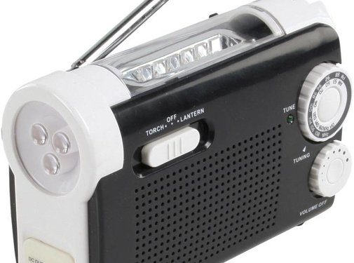 HQ HQ Dynamo zaklamp met Ingebouwde Radio, lader