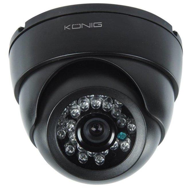 Konig CCTV Dome Beveiligings Binnencamera met IR LED en Nachtzicht