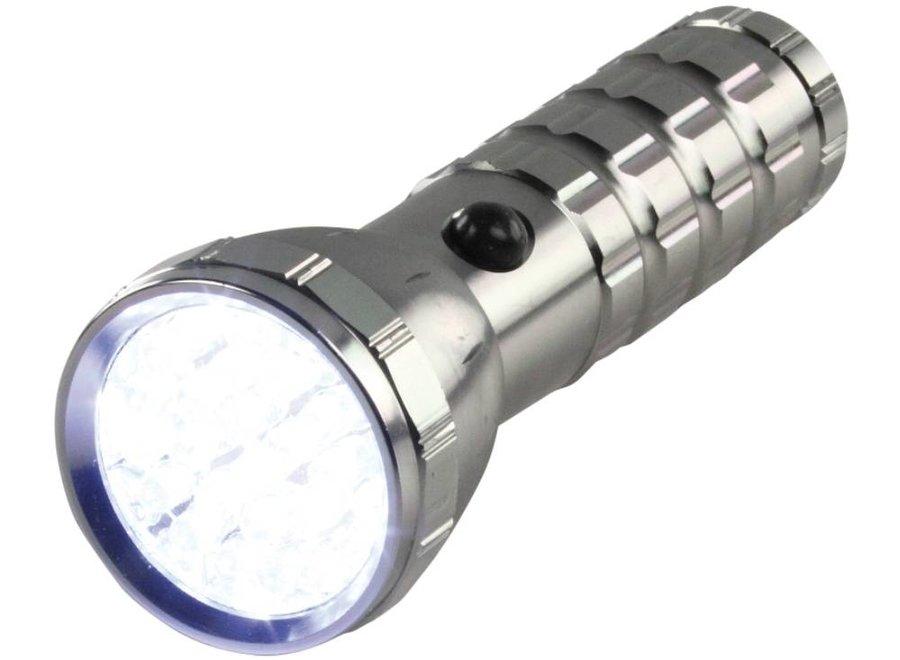 HQ Ultra Heldere Waterdichte Aluminium 28 LED's Zaklamp Silver