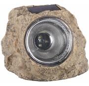 Ranex Ranex Solar 3 LED's Kunststof Steenlamp Naxos Grey