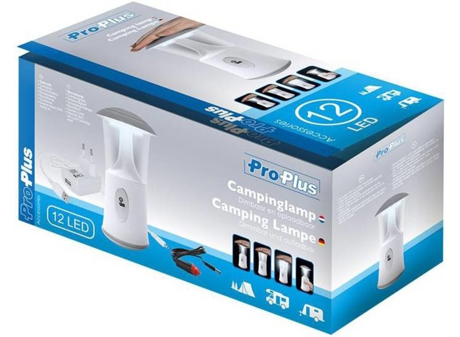 ProPlus 12 LED's Soft Touch Dimbare Oplaadbare Lamp