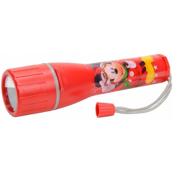 Disney Mickey Mouse LED Zaklamp Red