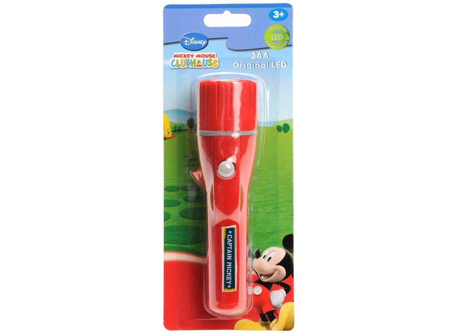 Disney Mickey Mouse LED Zaklamp Red
