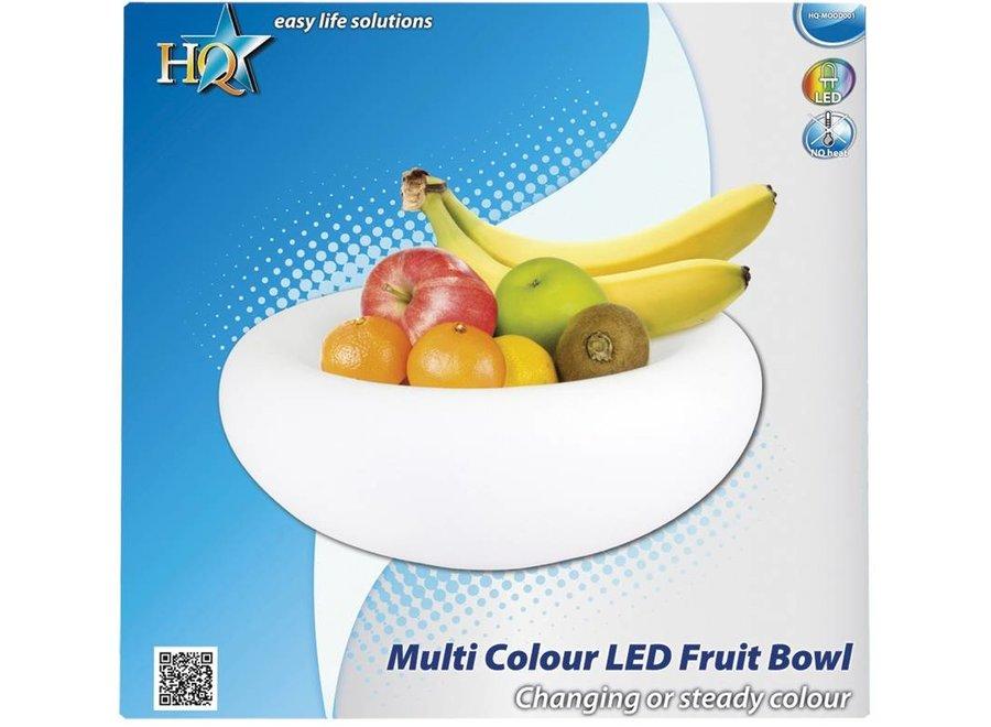 HQ LED Multicolour Fruitschaal White