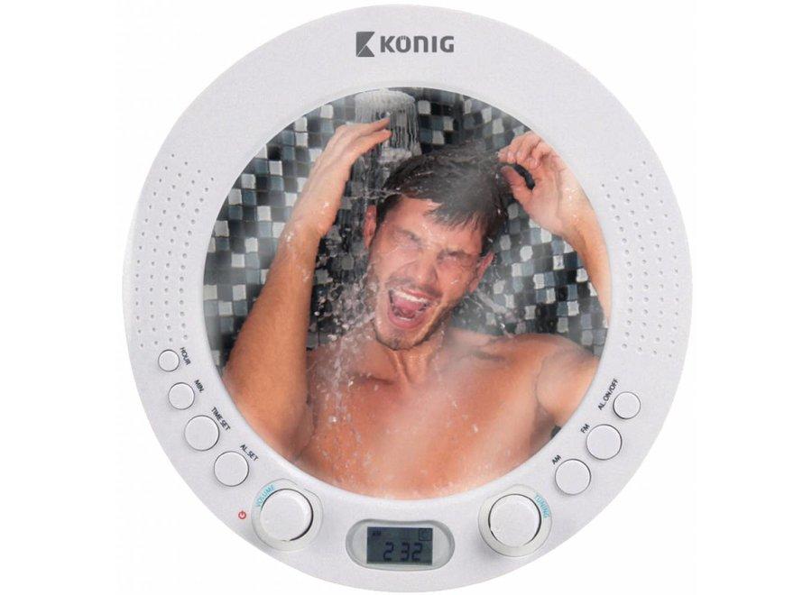 Konig AM/FM LED-display Doucheradio met Spiegel