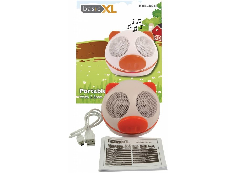 BasicXL Draagbare Varkentje Speaker