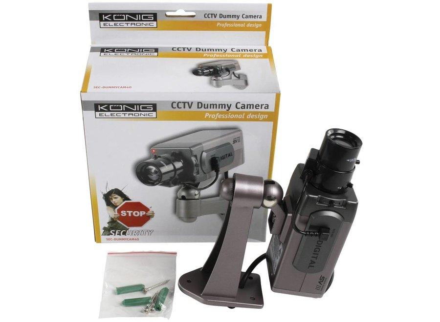 König CCTV Dummy Binnencamera met IR LED en Ophangbeugel