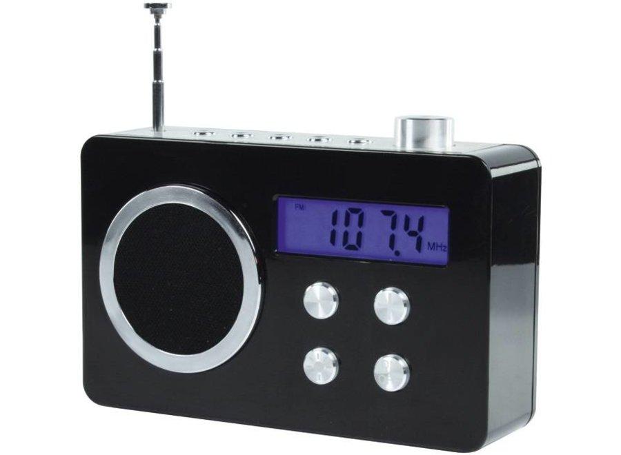 BasicXL Draagbare FM Radio Black