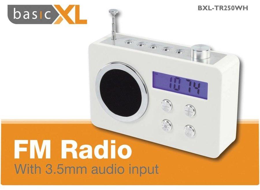 BasicXL Draagbare FM Radio White