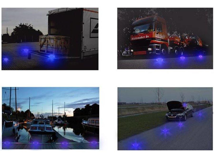 ProPlus 9-in-1 16 LED's Blue Ongevallen Waarschuwingslamp