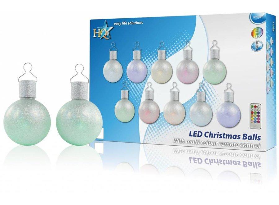 HQ LED Multicolour Kerstballen + Afstandsbediening