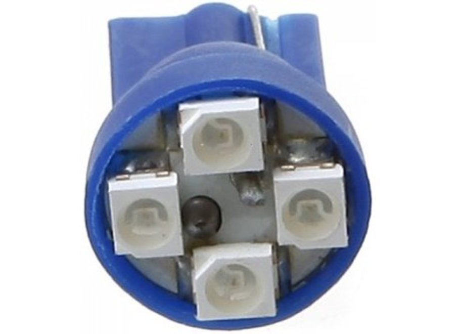 T10 4 x 1210 SMD LED Blue 12V Autolamp