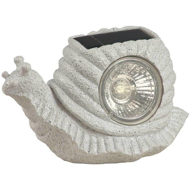 Ranex Solar LED Slaklamp Snail Grey