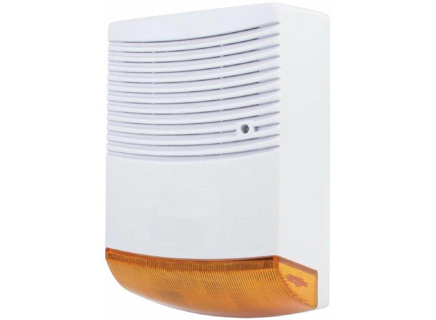 Konig Dummy Orange LED Alarmsirene - White
