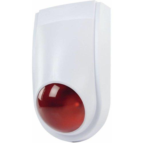 Konig Konig Dummy Red LED Alarmsirene - White