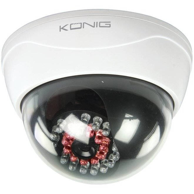 König CCTV Professional Dummy Dome Camera met Actieve IR LED's