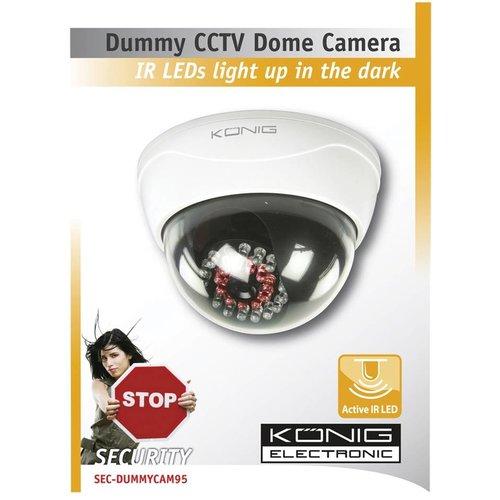 Konig König CCTV Professional Dummy Dome Camera met Actieve IR LED's