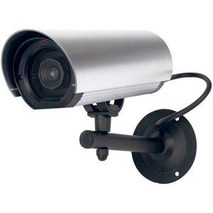 Konig König CCTV Dummy Buitencamera met IR LED en Ophangbeugel Silver