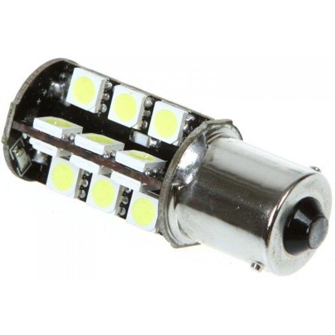 1156 BA15S 27 x 5050 SMD LED Canbus Cool White 12V Autolamp