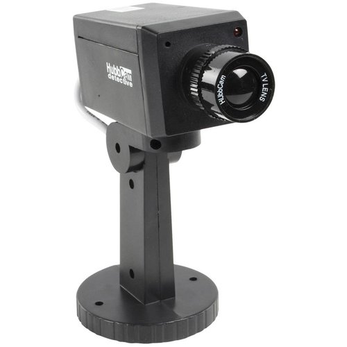 Konig König CCTV Dummy Beveiligingscamera met IR LED en Montage Beugel Black