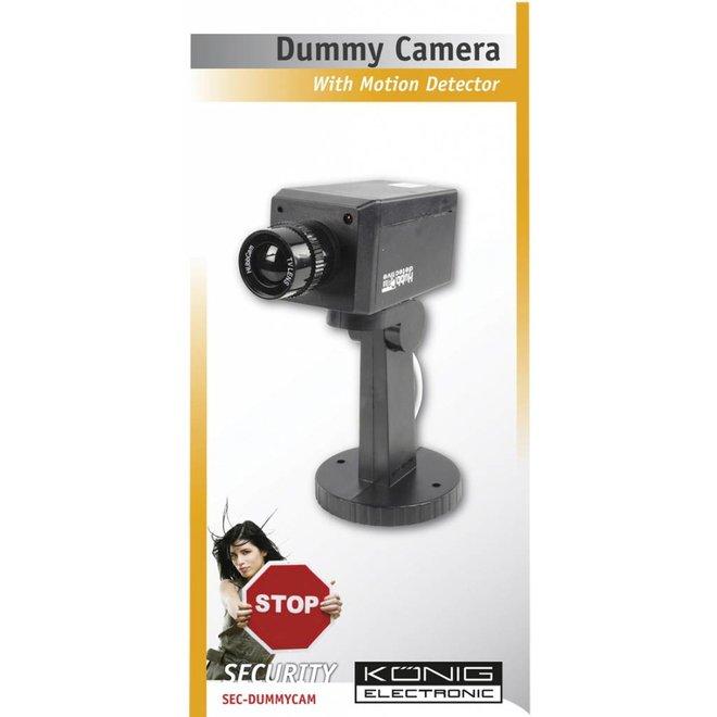 König CCTV Dummy Beveiligingscamera met IR LED en Montage Beugel Black