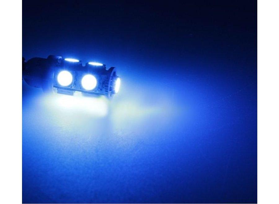 T10 9 x 5050 SMD LED Blue 12V Autolamp