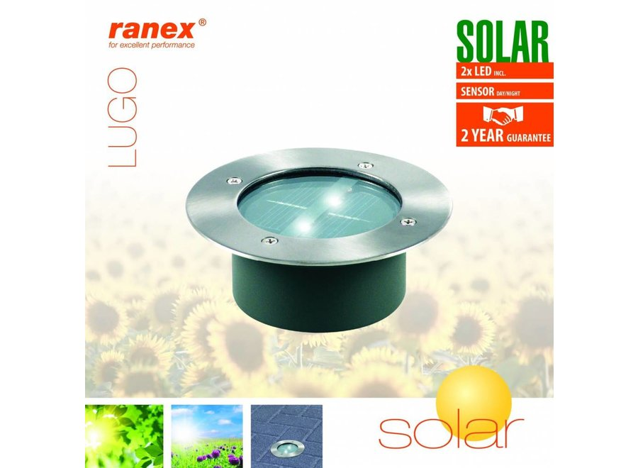 Ranex Lugo LED Solar Grondspot - Rond