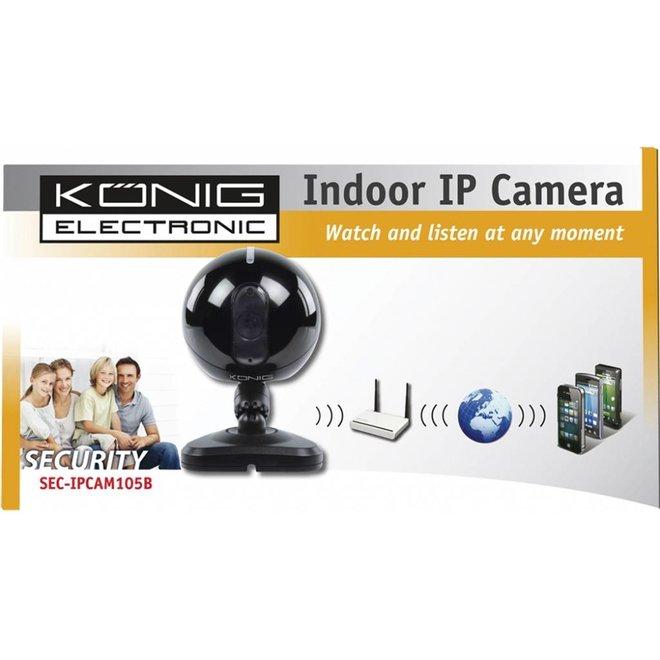 Konig 6 LED's IP Binnencamera Black