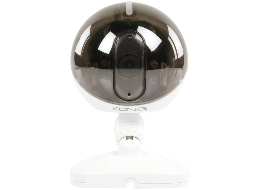 Konig 6 LED's IP Binnencamera White