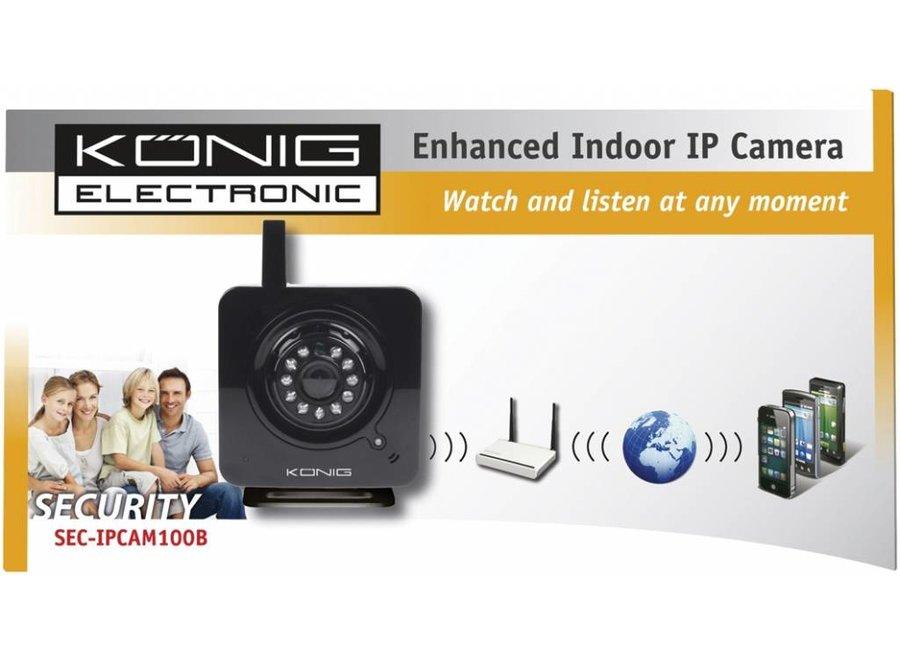 Konig 11 LED's Uitgebreide IP Binnencamera Black